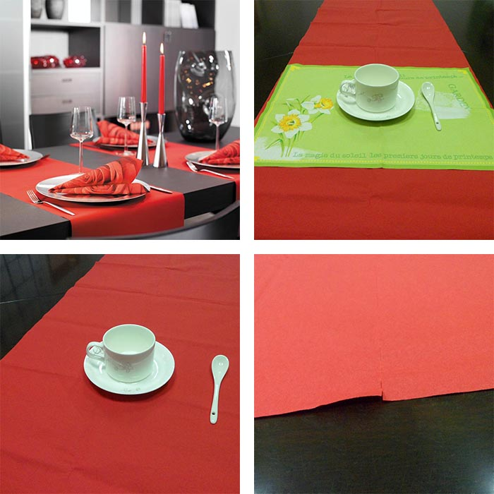 Decorative disposable party table runner